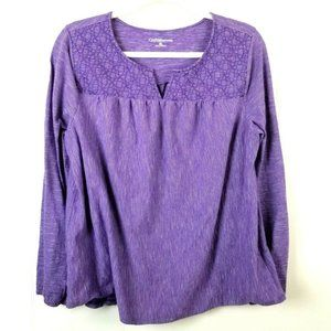 Croft & Barrow XL Long Sleeve Knit Top Peasant